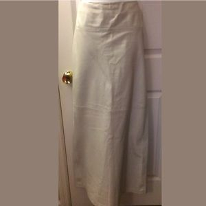 RARE J.CREW Collection Leather Maxi Skirt Pearl
